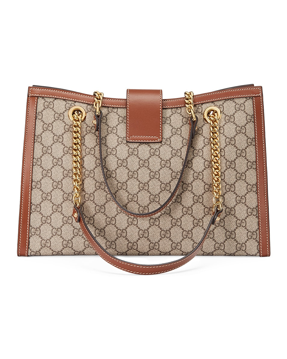 Image 2 of Gucci Padlock GG Tote Bag in Beige Ebony & Tuscany