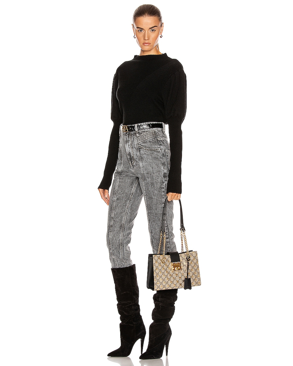 Image 2 of Gucci Padlock GG Tote Bag in Beige Ebony & Black