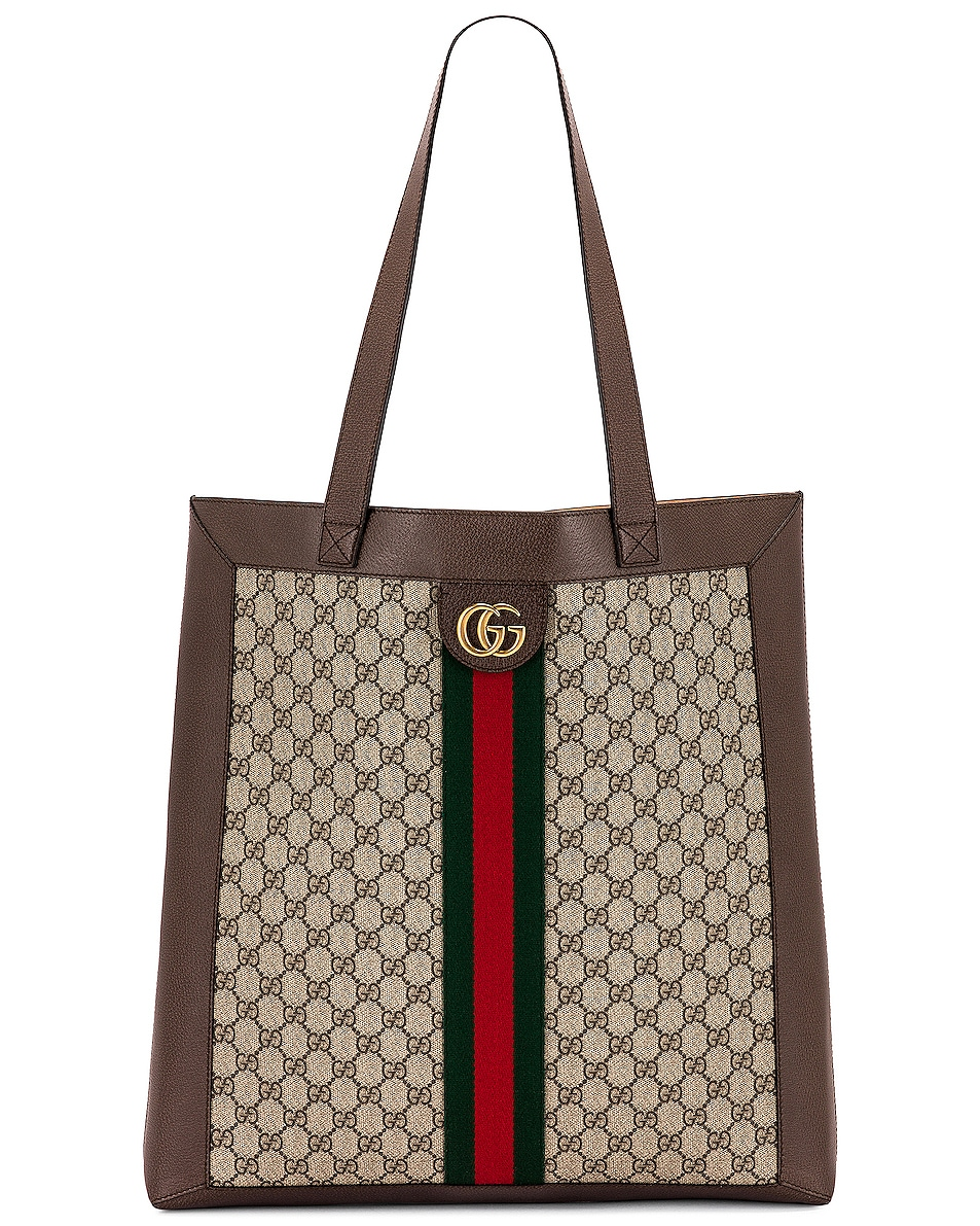 Image 1 of Gucci Ophidia GG Tote in Beige Ebony