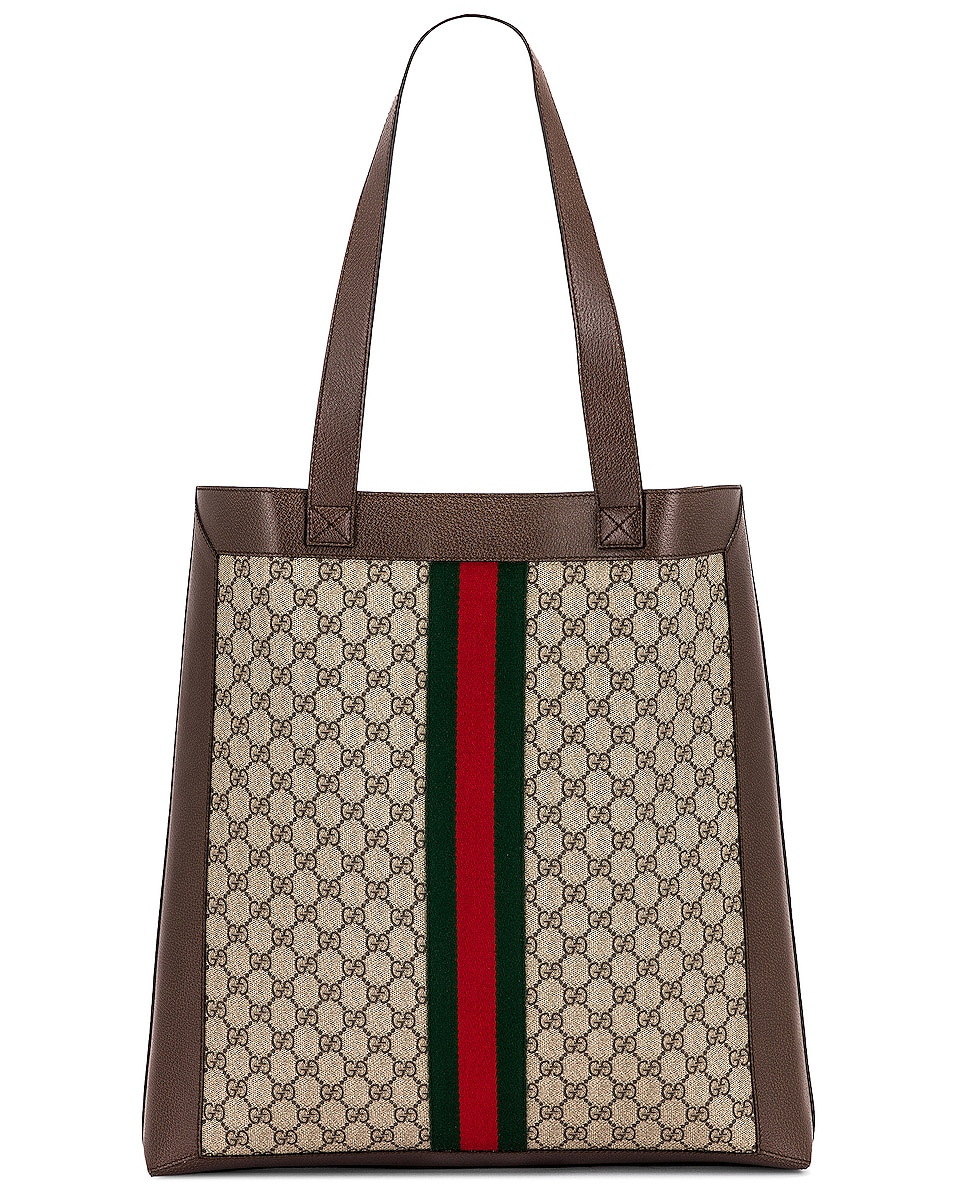 Image 3 of Gucci Ophidia GG Tote in Beige Ebony