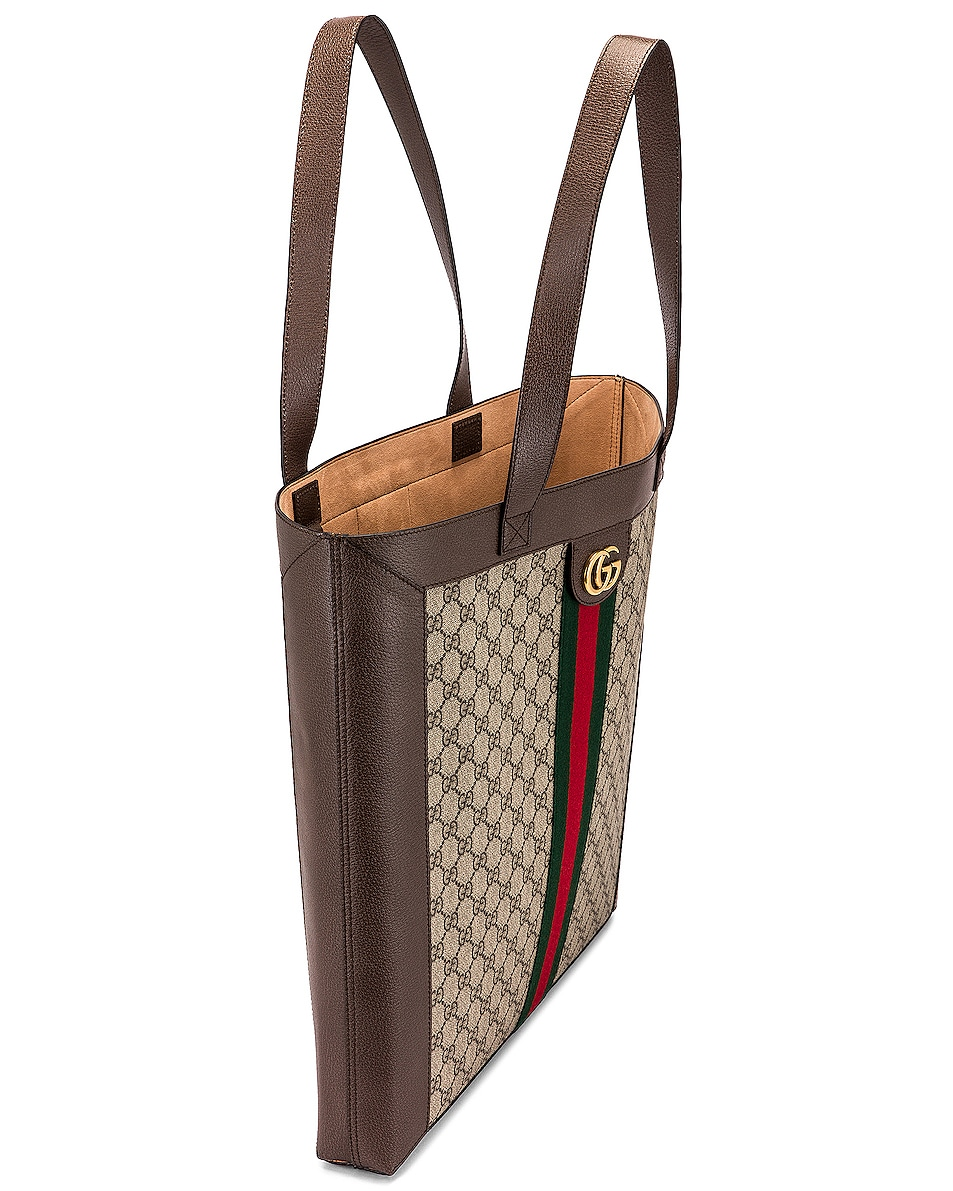 Image 5 of Gucci Ophidia GG Tote in Beige Ebony