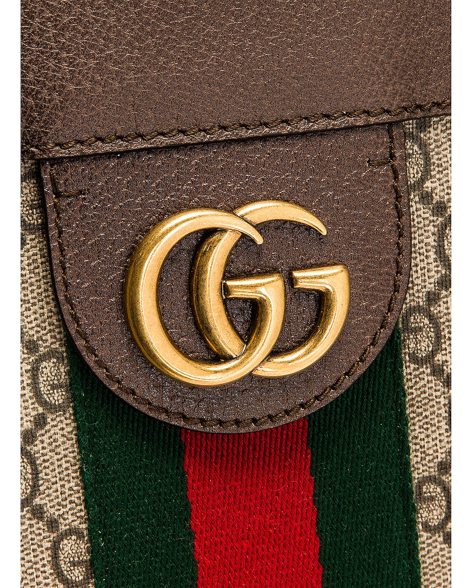 Image 7 of Gucci Ophidia GG Tote in Beige Ebony