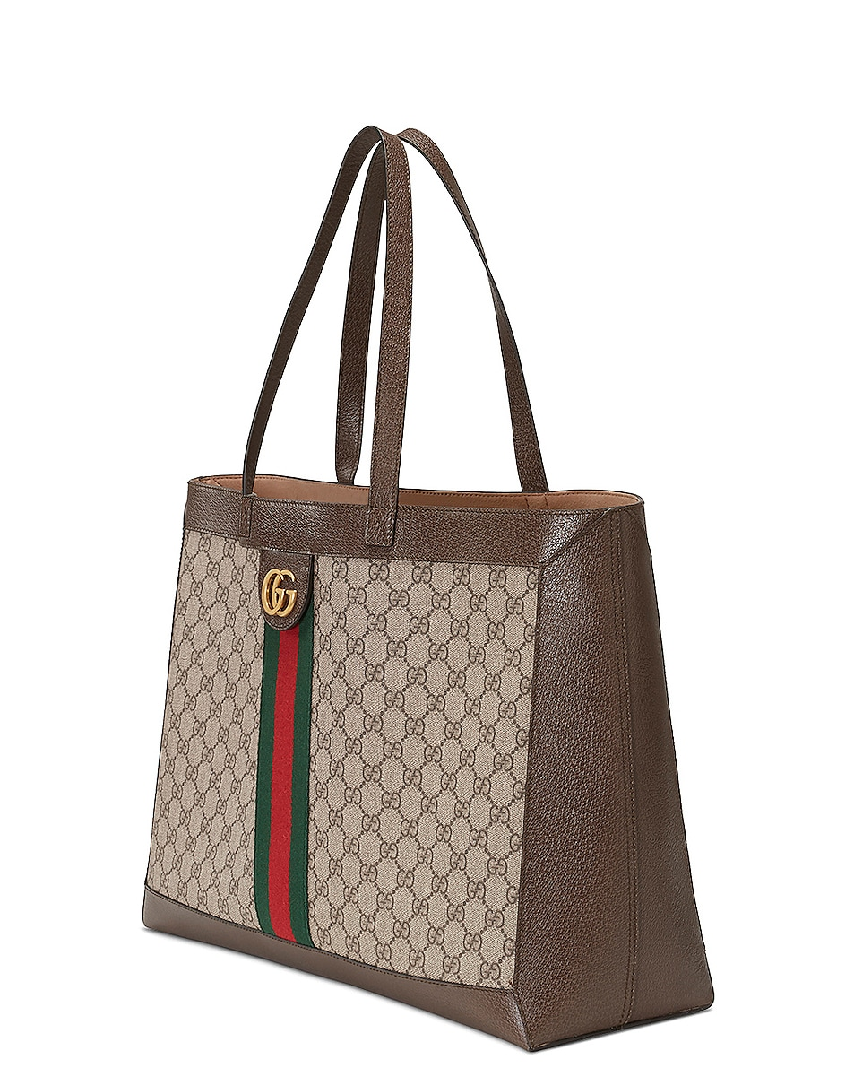 Image 4 of Gucci Ophidia GG Tote in Beige Ebony