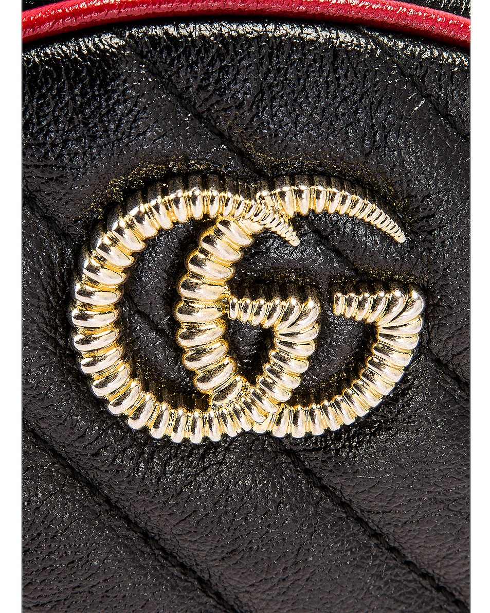 Image 8 of Gucci GG Marmont 2.0 Round Shoulder Bag in Black & Romantic Ceris