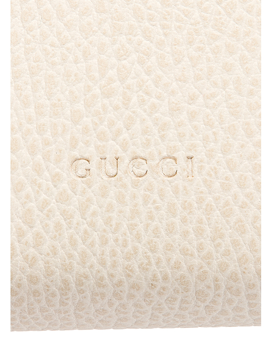 Image 7 of Gucci Leather Chain Shoulder Bag in Mystic White & Black Diamond