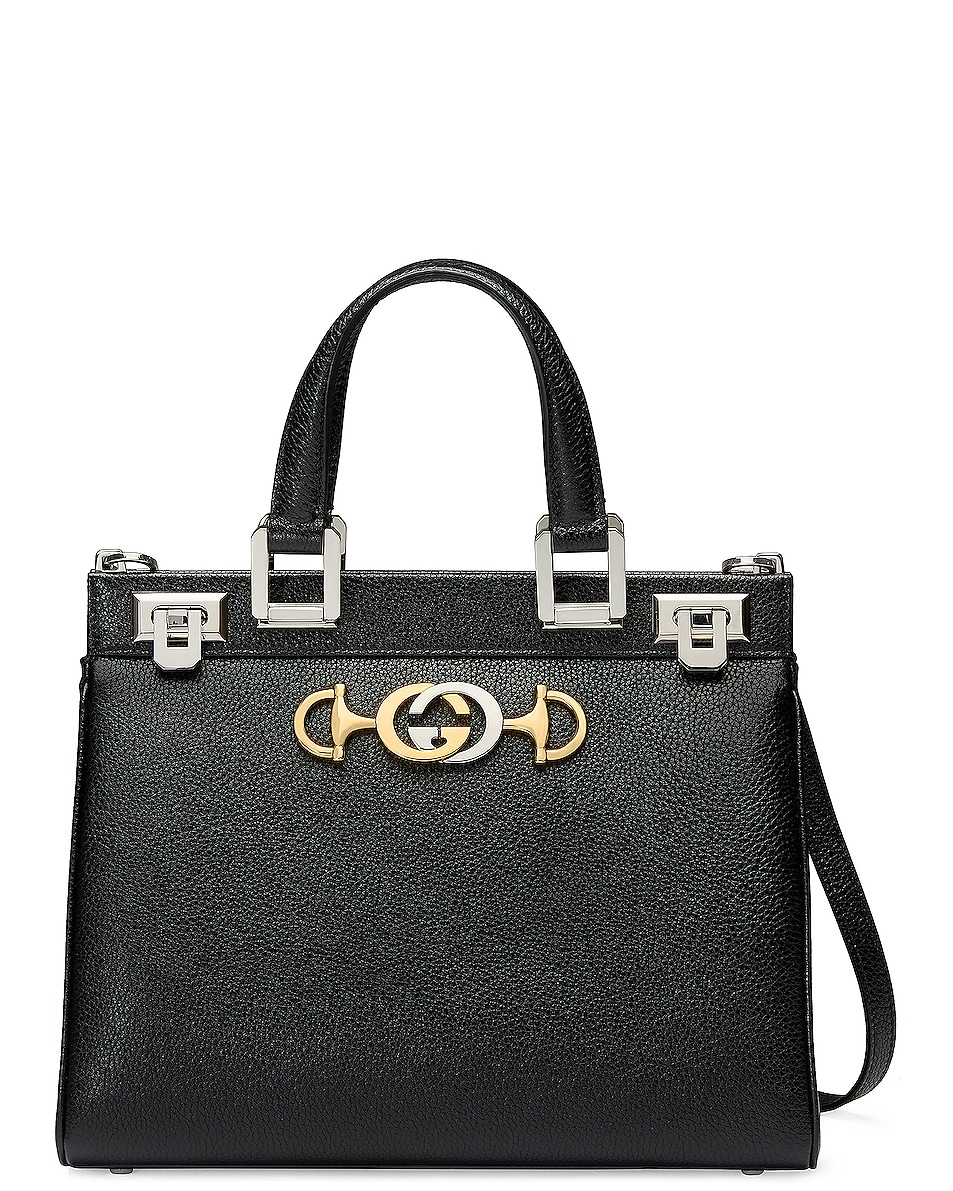 Image 1 of Gucci Zumi Top Handle Bag in Black