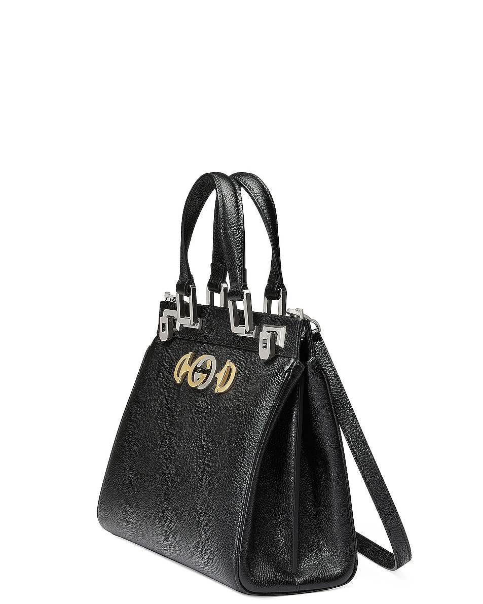 Image 4 of Gucci Zumi Top Handle Bag in Black