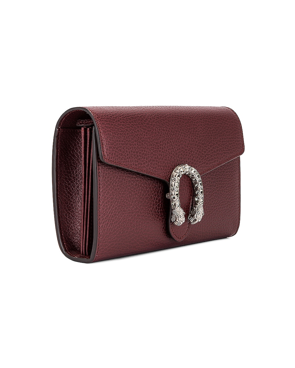 Image 4 of Gucci Leather Chain Shoulder Bag in Vintage Bordeaux & Black Diamond