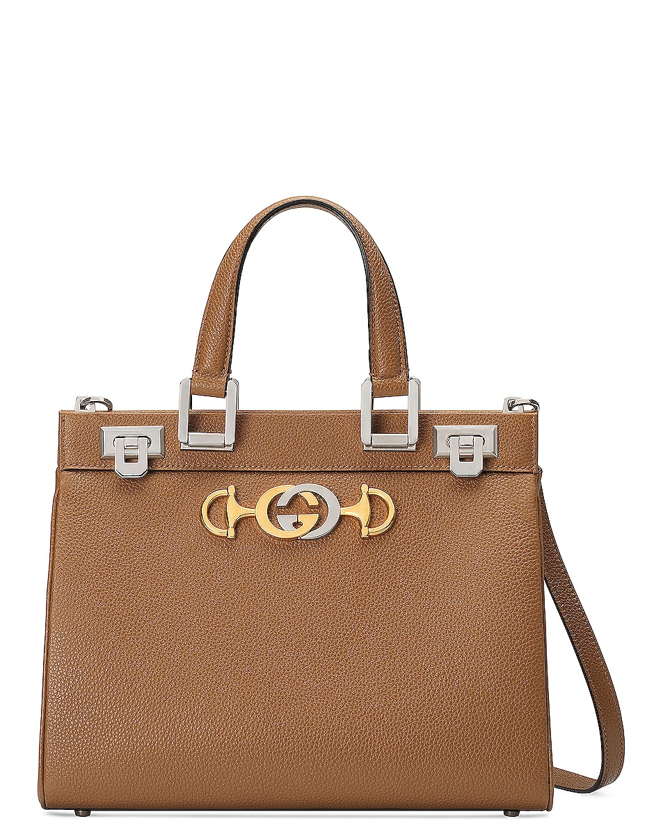 Image 1 of Gucci Zumi Top Handle Bag in Taupe