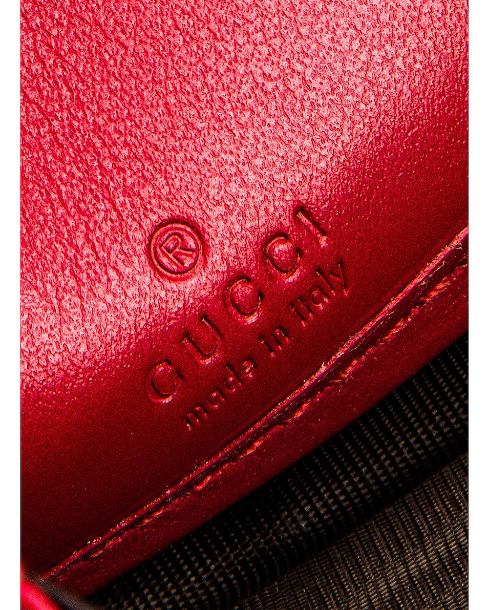 Image 5 of Gucci Leather Zip Around Wallet in Hibiscus Red