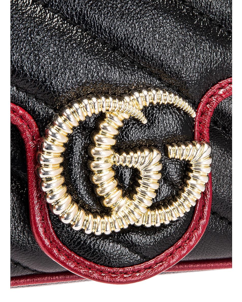 Image 8 of Gucci Leather Torchon Super Mini Bag in Black & Romantic Ceris