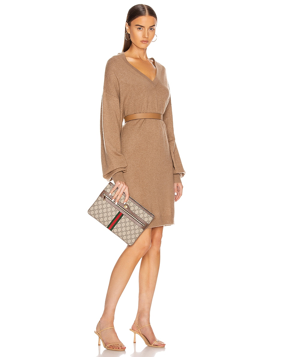 Image 2 of Gucci Ophidia GG Pouch in Beige Ebony