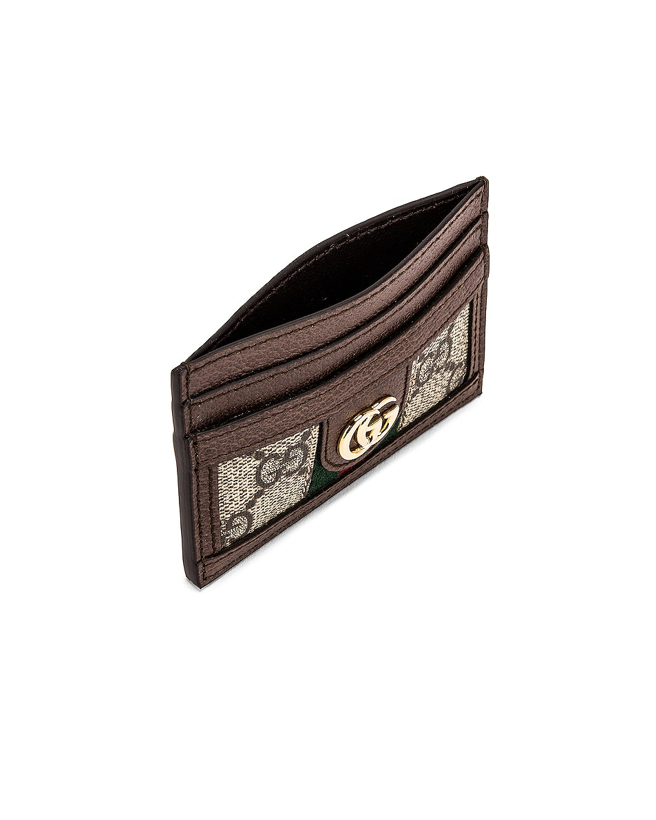 Image 4 of Gucci Canvas Card Case in Beige Ebony