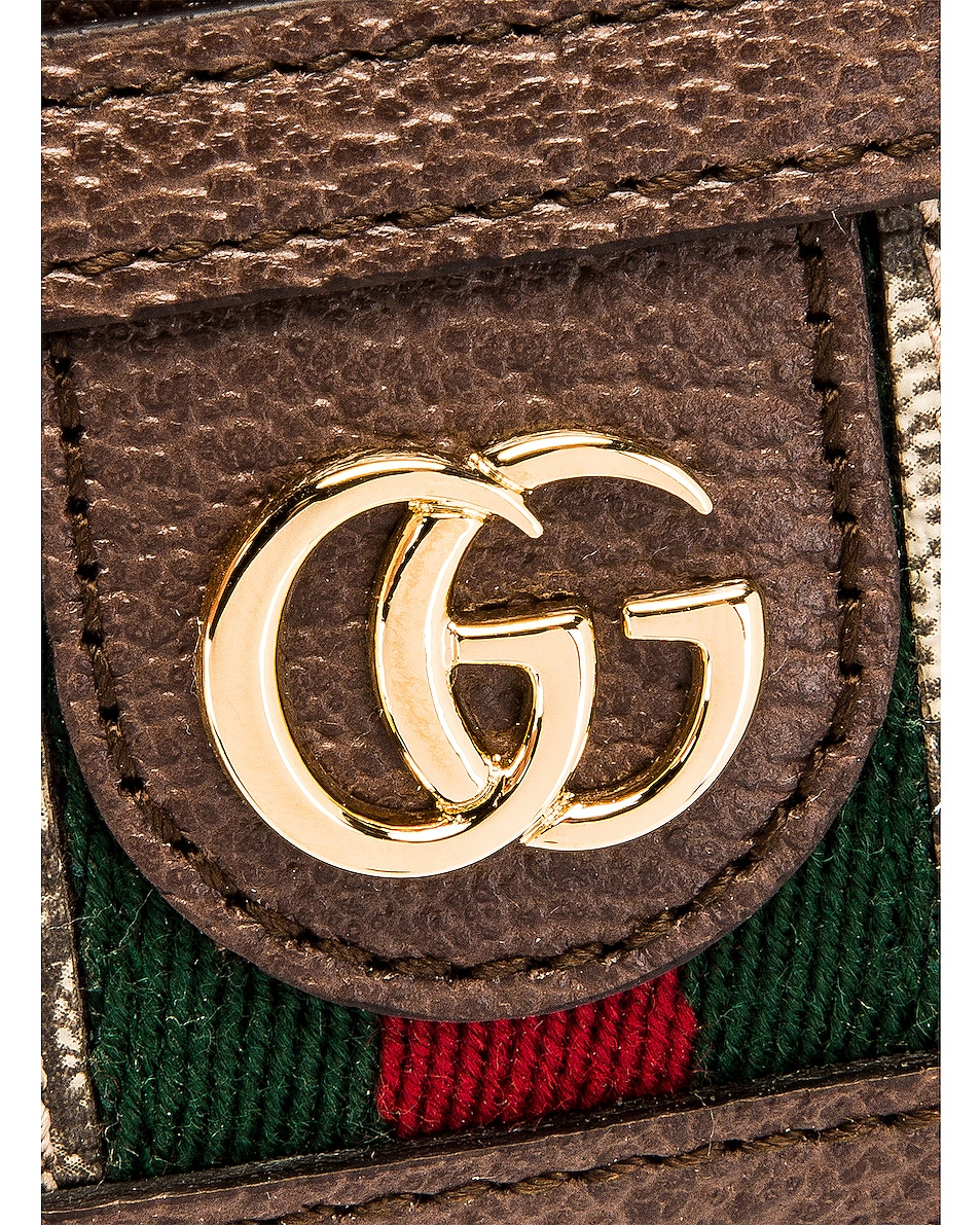 Image 6 of Gucci Canvas Card Case in Beige Ebony