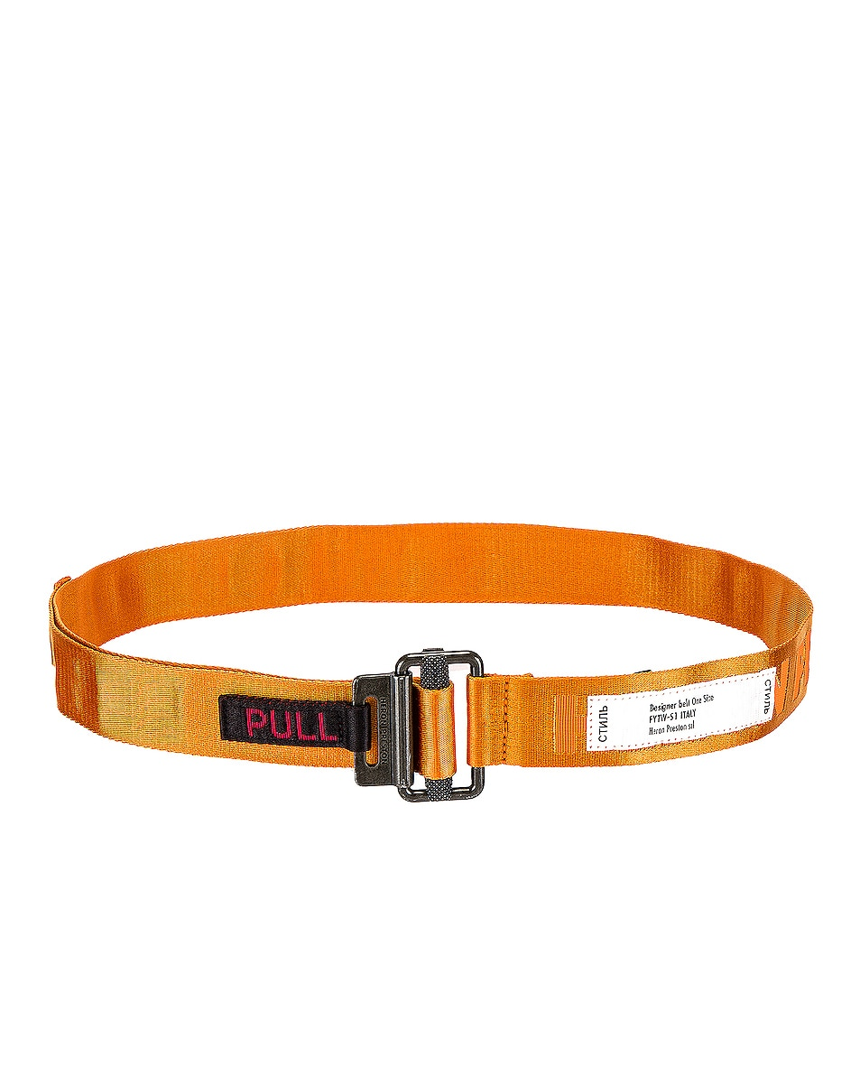 Image 2 of Heron Preston KK Tape Belt in Orange