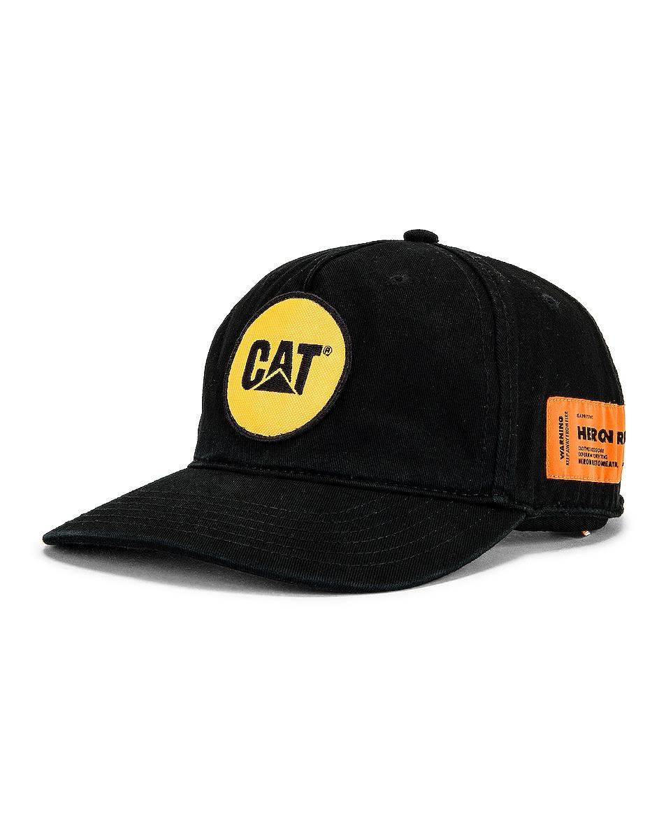 Image 1 of Heron Preston Cat Patch Hat in Black