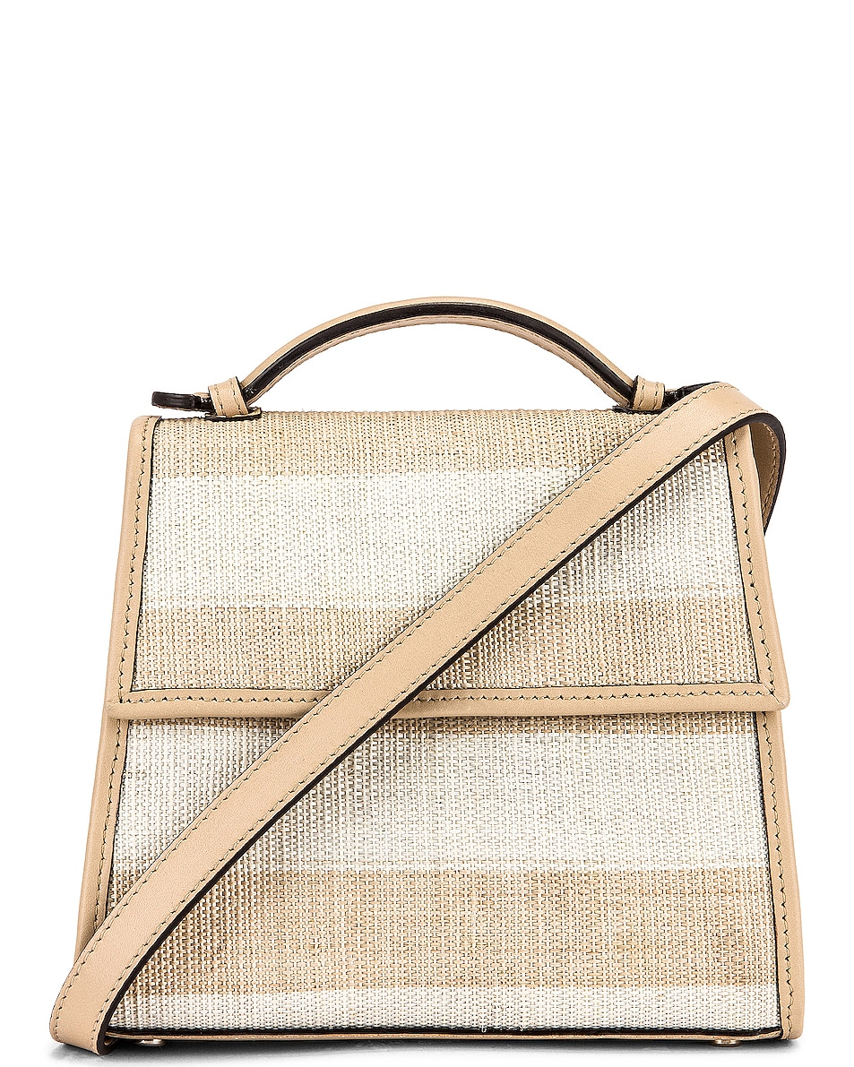 Image 1 of Hunting Season Small Top Handle Bag in Natural & Beige