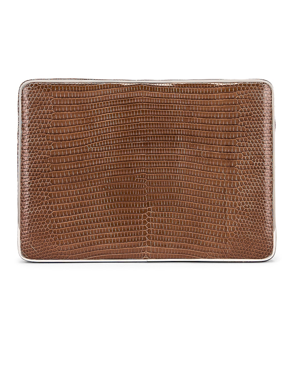 Image 1 of Hunting Season Square Compact Clutch in Taupe Ring