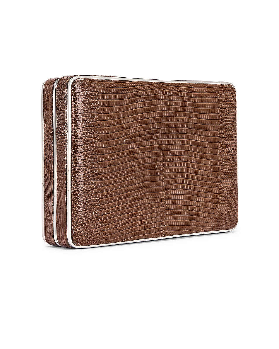 Image 4 of Hunting Season Square Compact Clutch in Taupe Ring