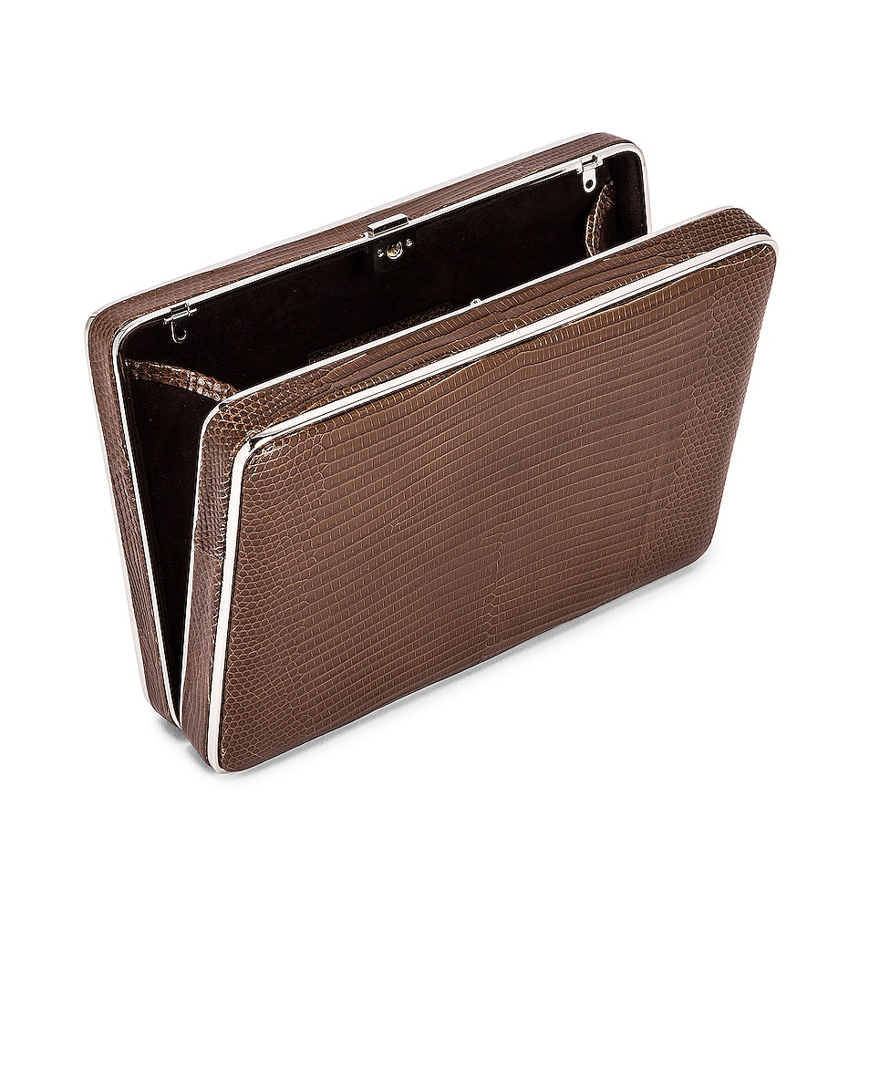 Image 5 of Hunting Season Square Compact Clutch in Taupe Ring