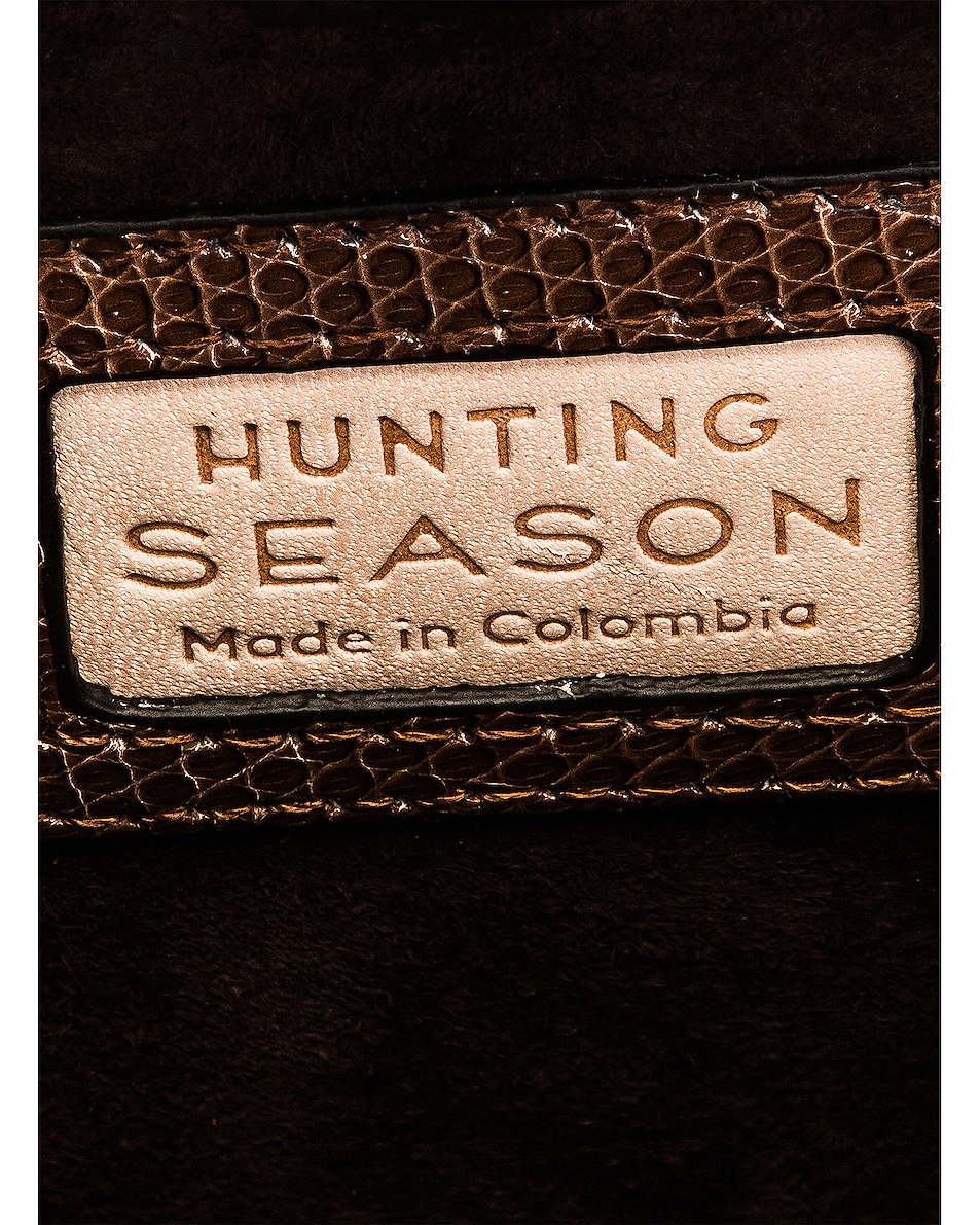 Image 6 of Hunting Season Square Compact Clutch in Taupe Ring