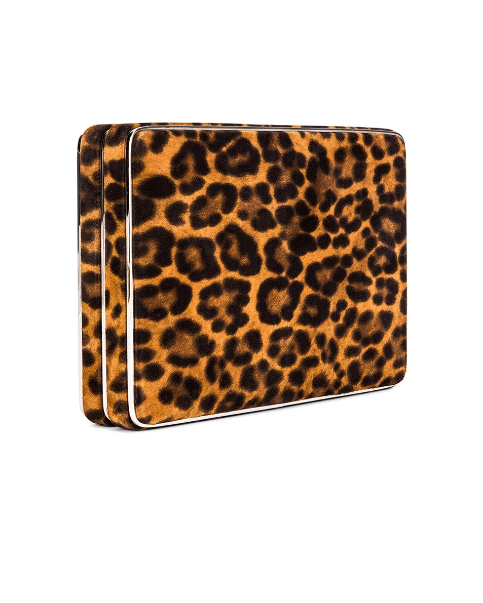 Image 4 of Hunting Season Square Compact Clutch in Leopard