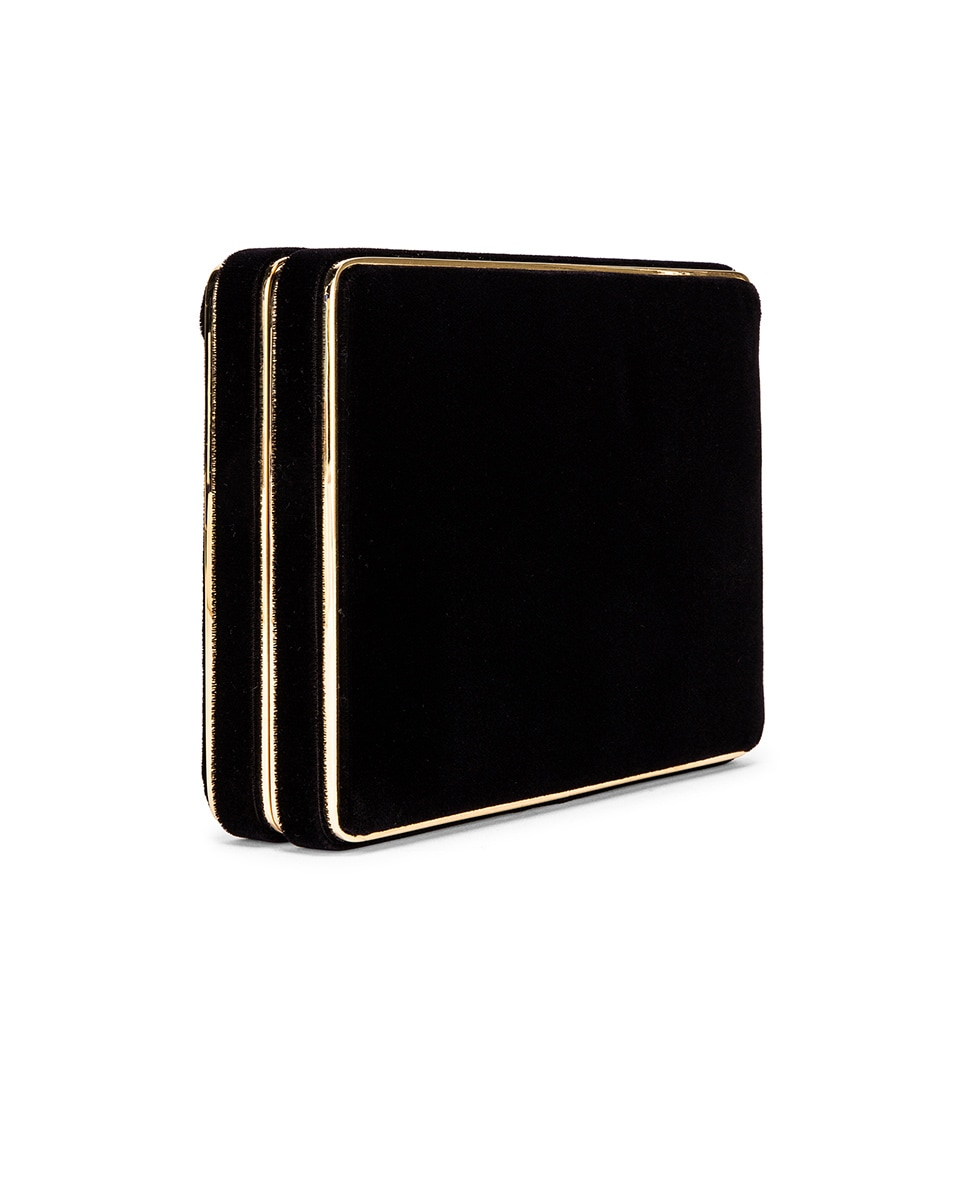 Image 4 of Hunting Season Square Compact Clutch in Black