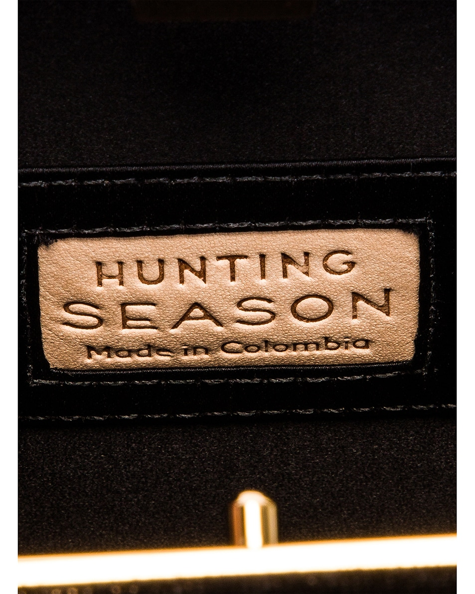 Image 6 of Hunting Season Square Compact Clutch in Black