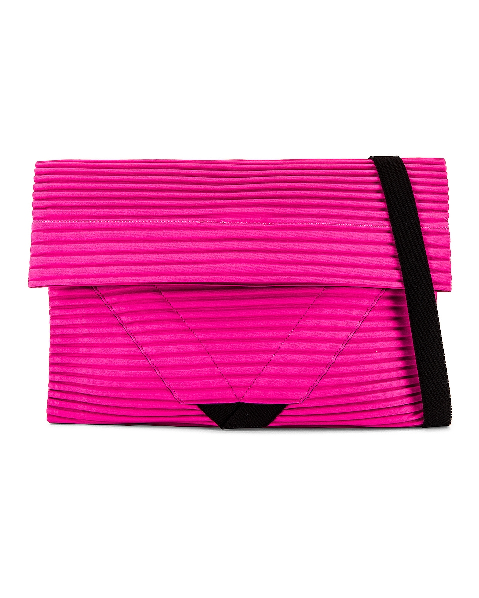 Image 1 of Homme Plisse Issey Miyake Pleasts Flat Bag in Pink