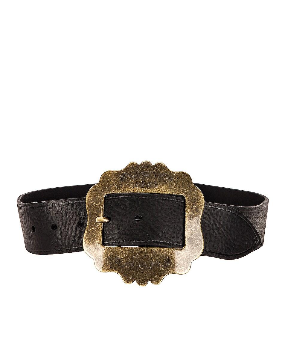 Image 1 of Isabel Marant Lewa Belt in Black & Brass