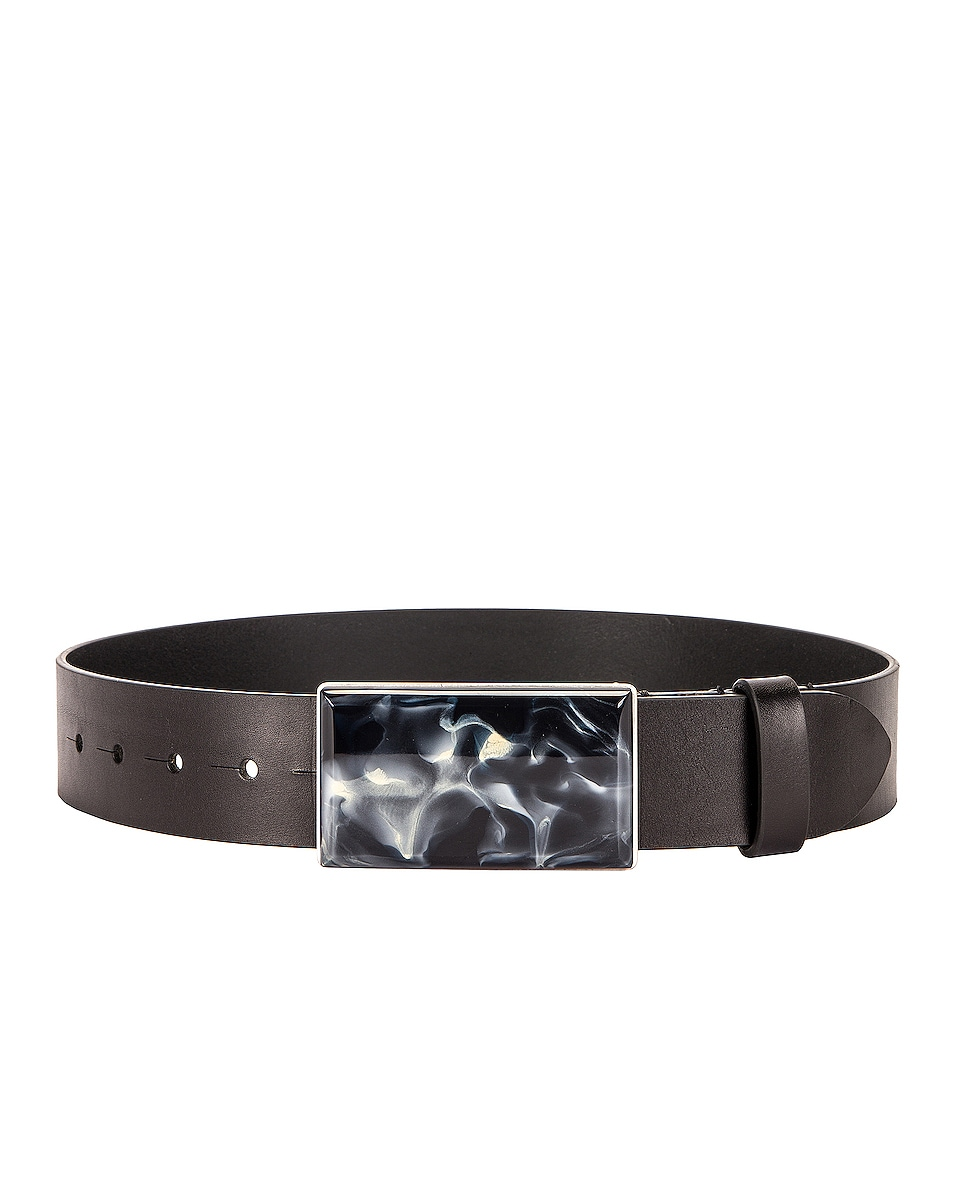 Image 1 of Isabel Marant Luponi Belt in Faded Black & Silver