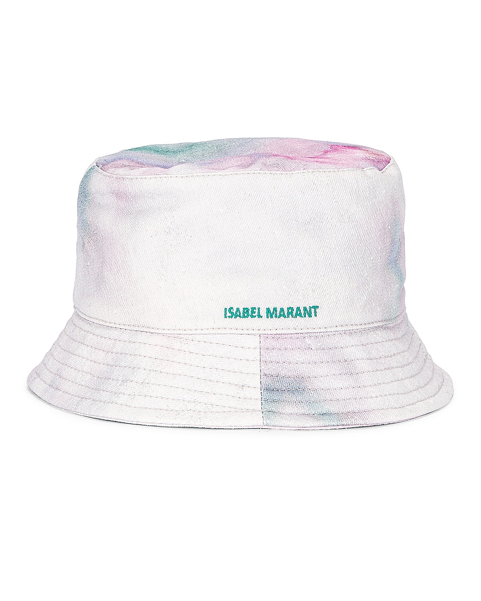 Image 1 of Isabel Marant Haley Bucket Hat in Green