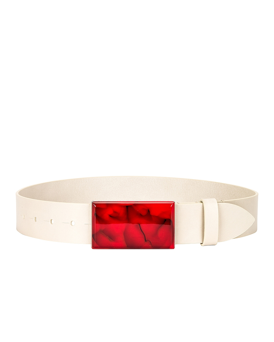 Image 1 of Isabel Marant Luponi Belt in Cherry & Silver