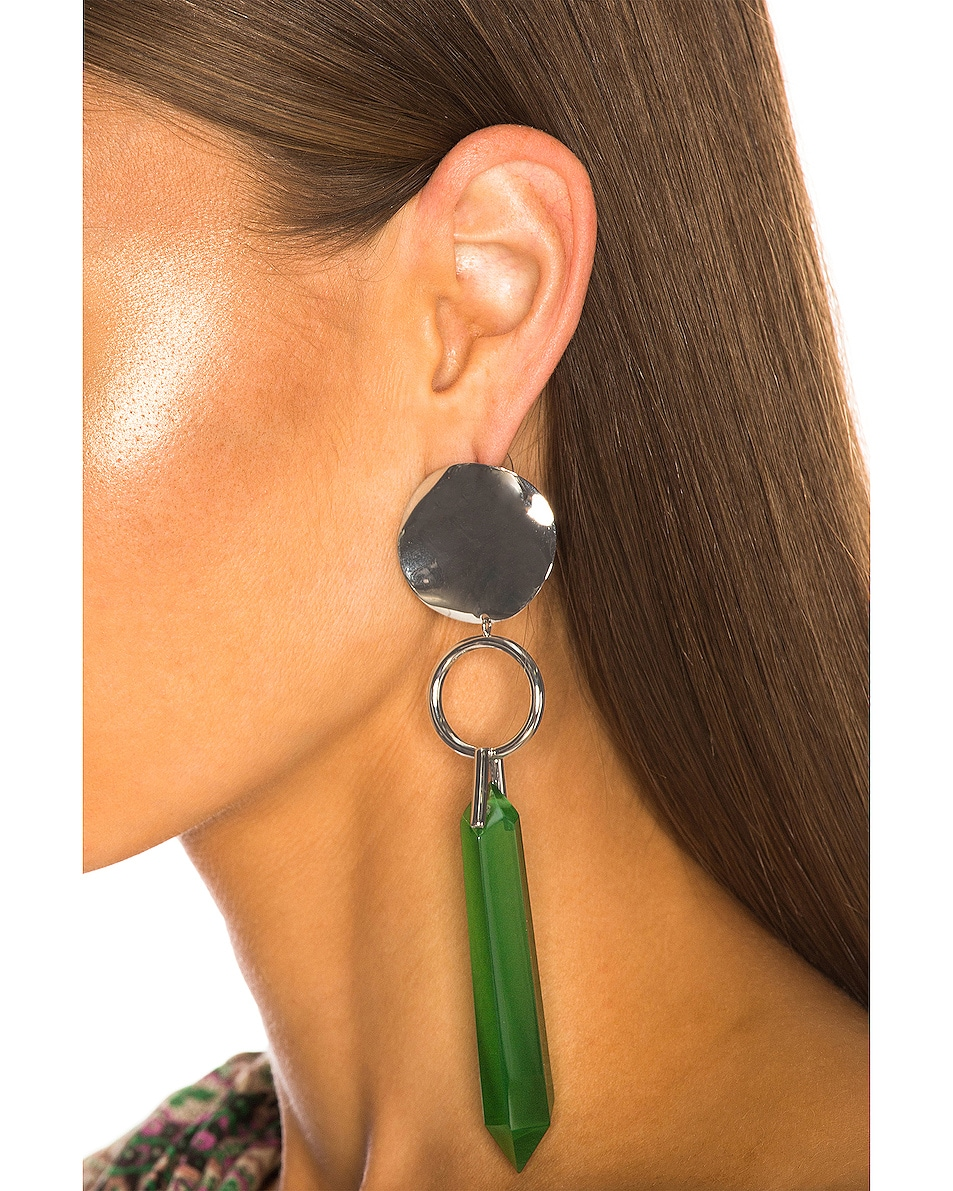 Image 2 of Isabel Marant Stalk Earrings in Green