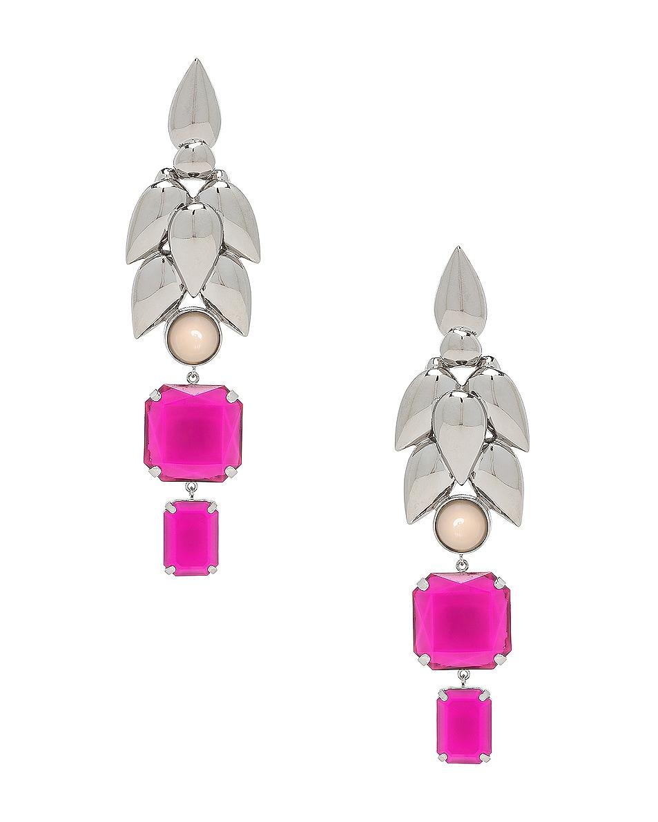 Image 1 of Isabel Marant Pop Bunch Earrings in Fuchsia
