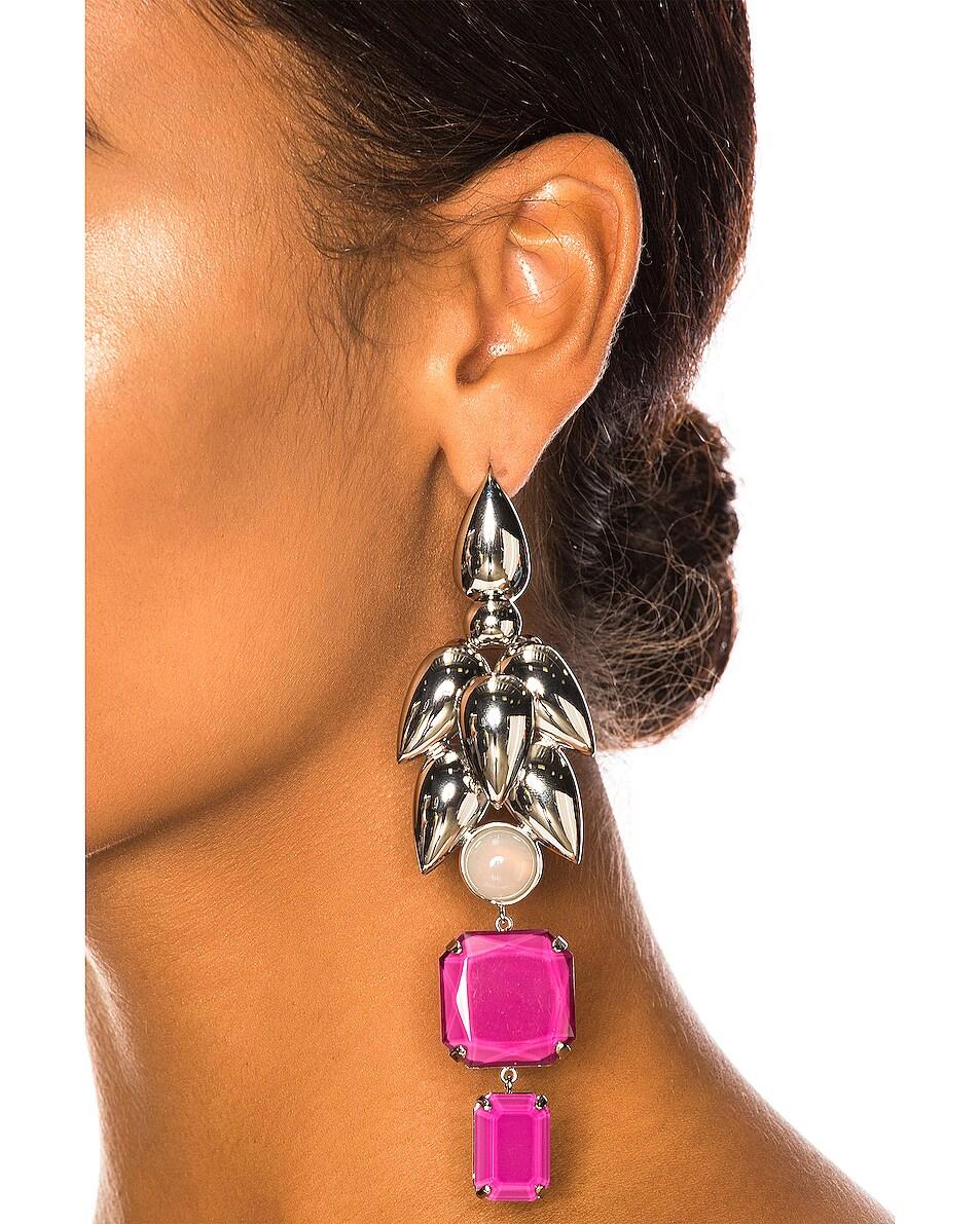 Image 2 of Isabel Marant Pop Bunch Earrings in Fuchsia