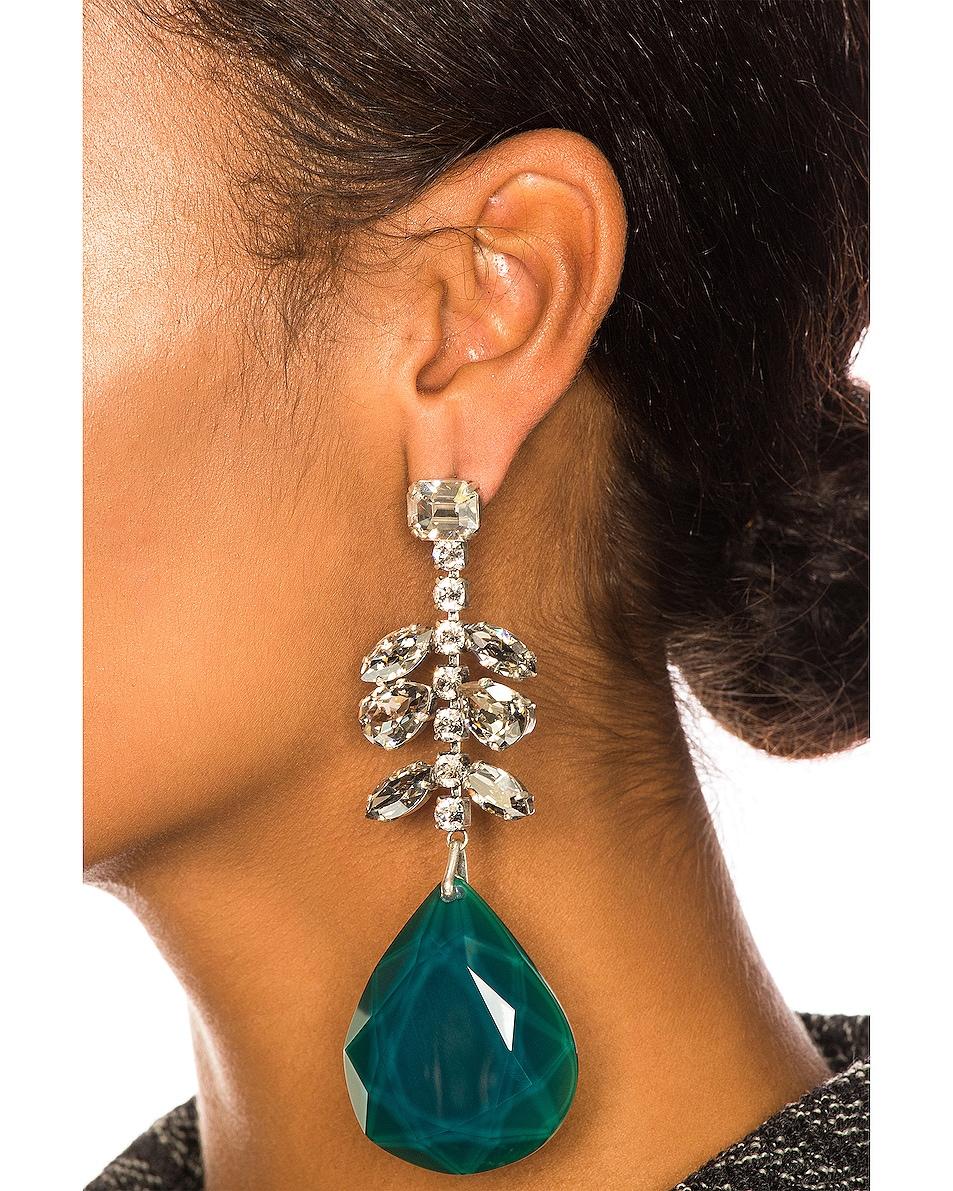 Image 2 of Isabel Marant Peace Pop Earrings in Celadon