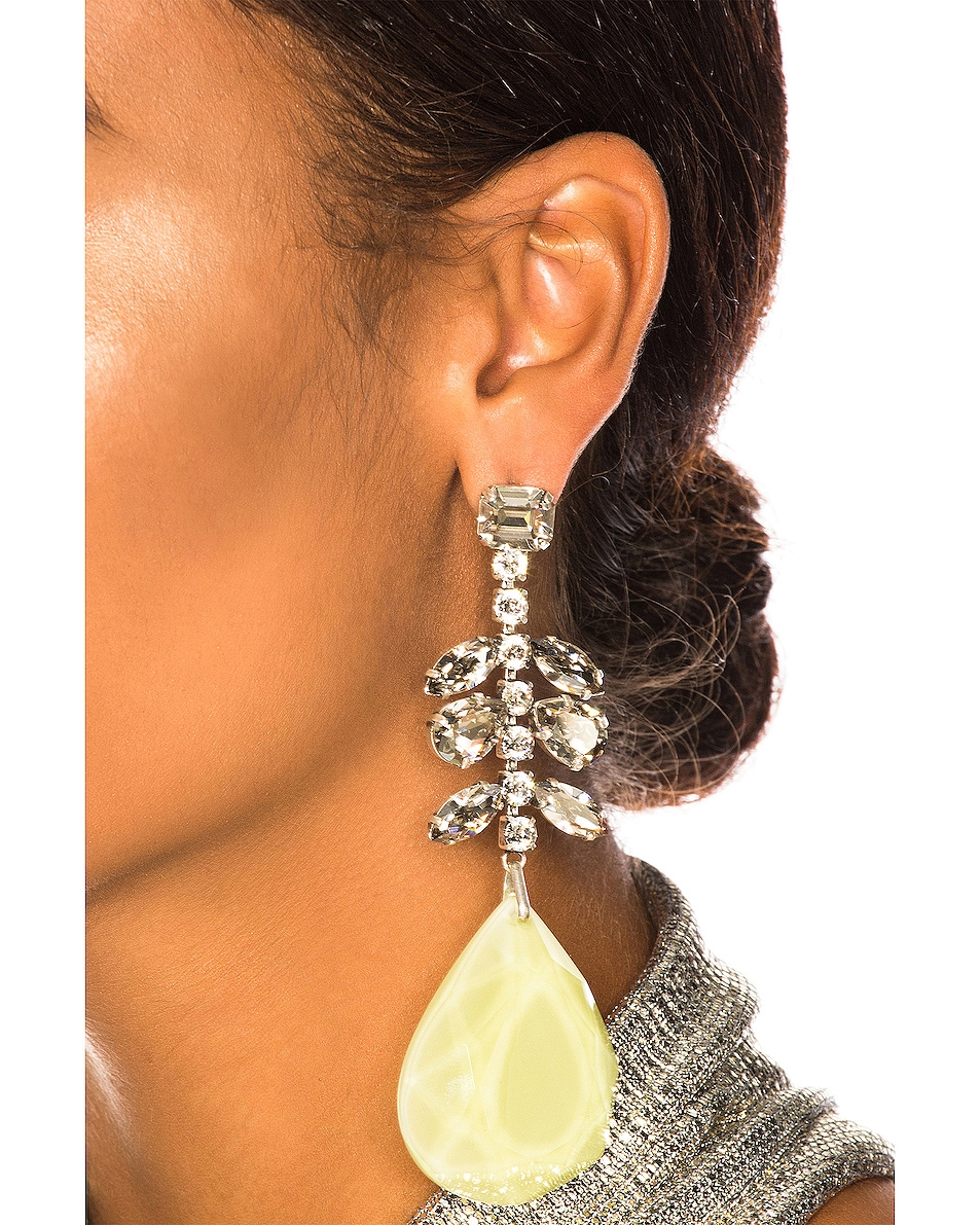 Image 2 of Isabel Marant Peace Pop Earrings in Yellow