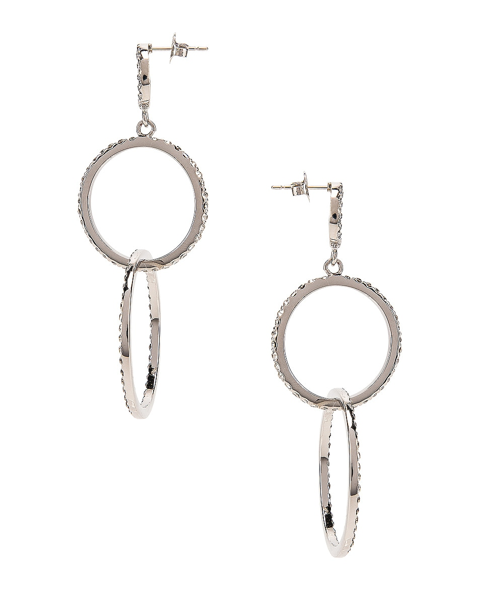 Image 3 of Isabel Marant Circle Drop Earrings in Transparent