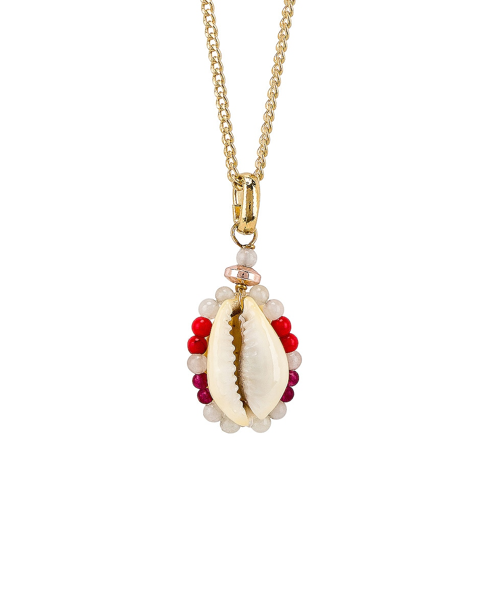 Image 2 of Isabel Marant Shell Necklace in Sky