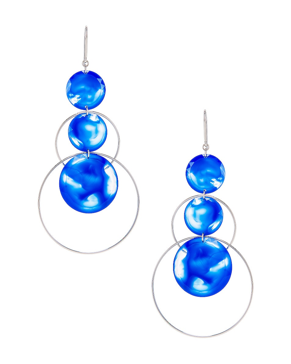 Image 1 of Isabel Marant Harlem Earrings in Blue & Silver