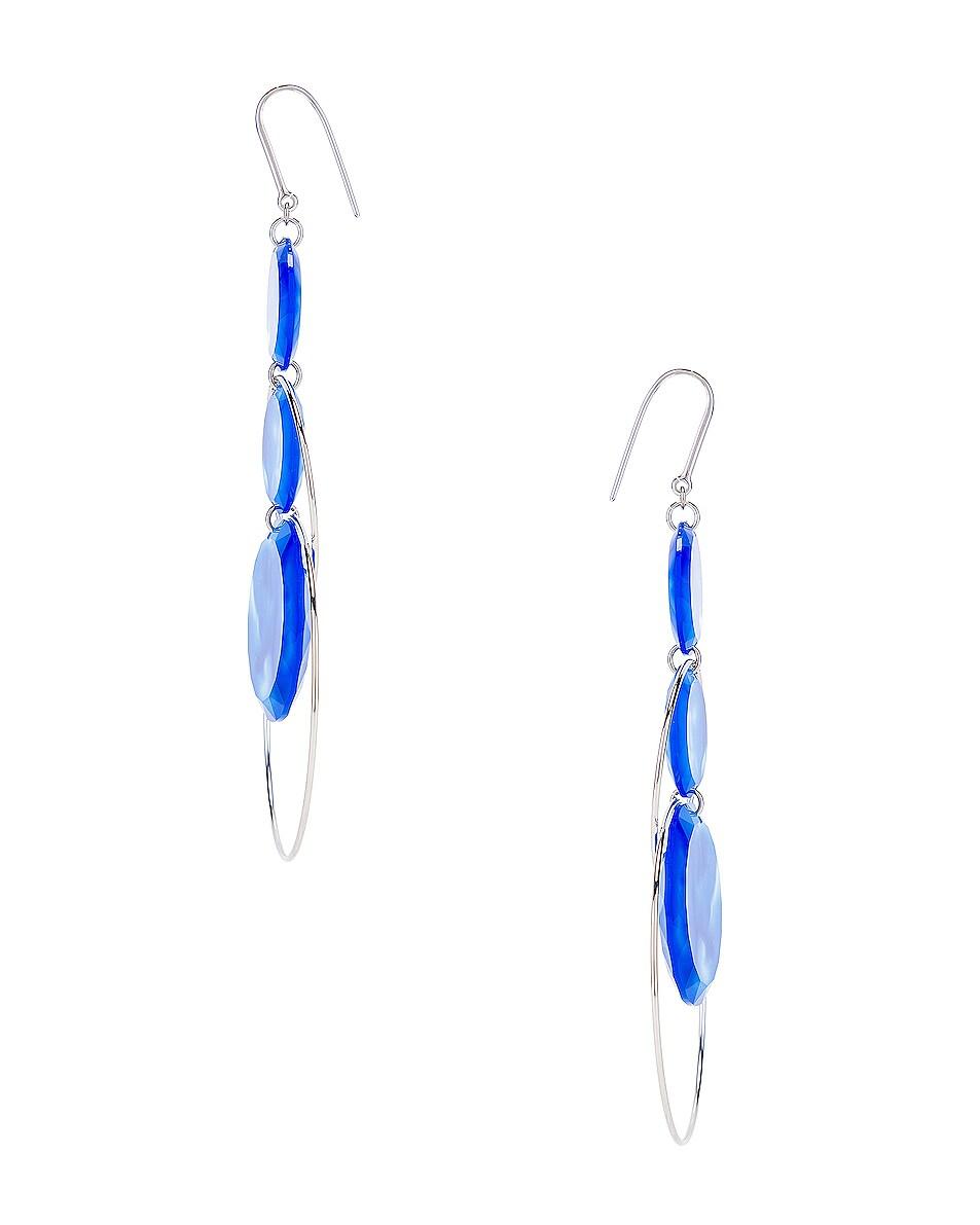 Image 3 of Isabel Marant Harlem Earrings in Blue & Silver