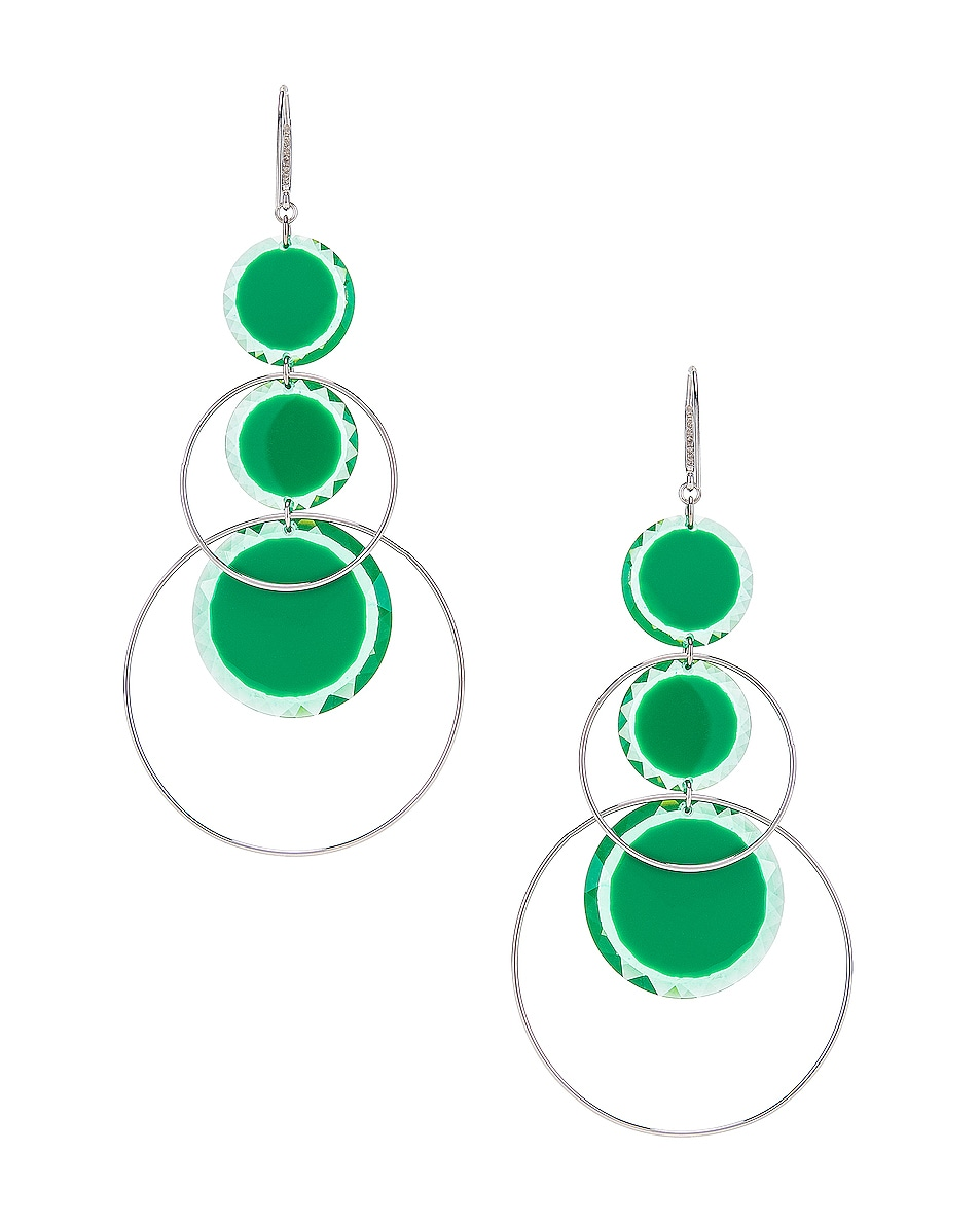Image 4 of Isabel Marant Harlem Earrings in Green & Silver