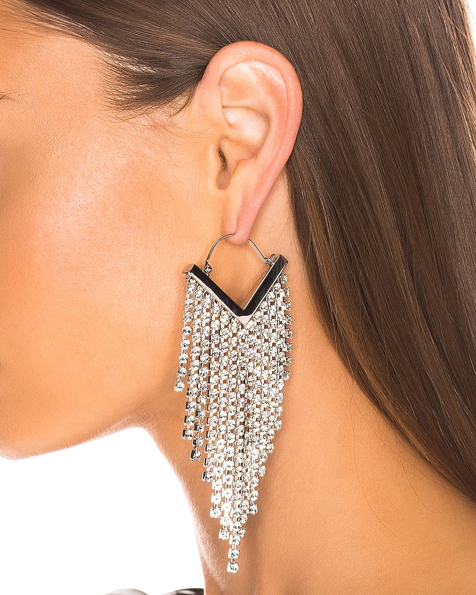 Image 2 of Isabel Marant Freak O Earrings in Transparent