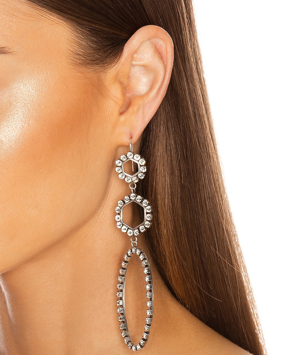 Image 2 of Isabel Marant Drop Earrings in Transparent