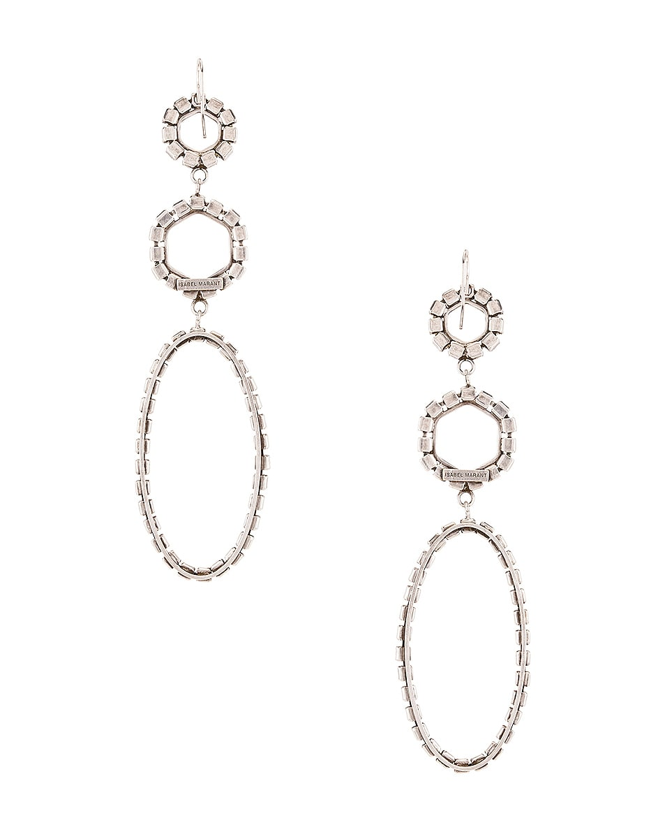 Image 4 of Isabel Marant Drop Earrings in Transparent