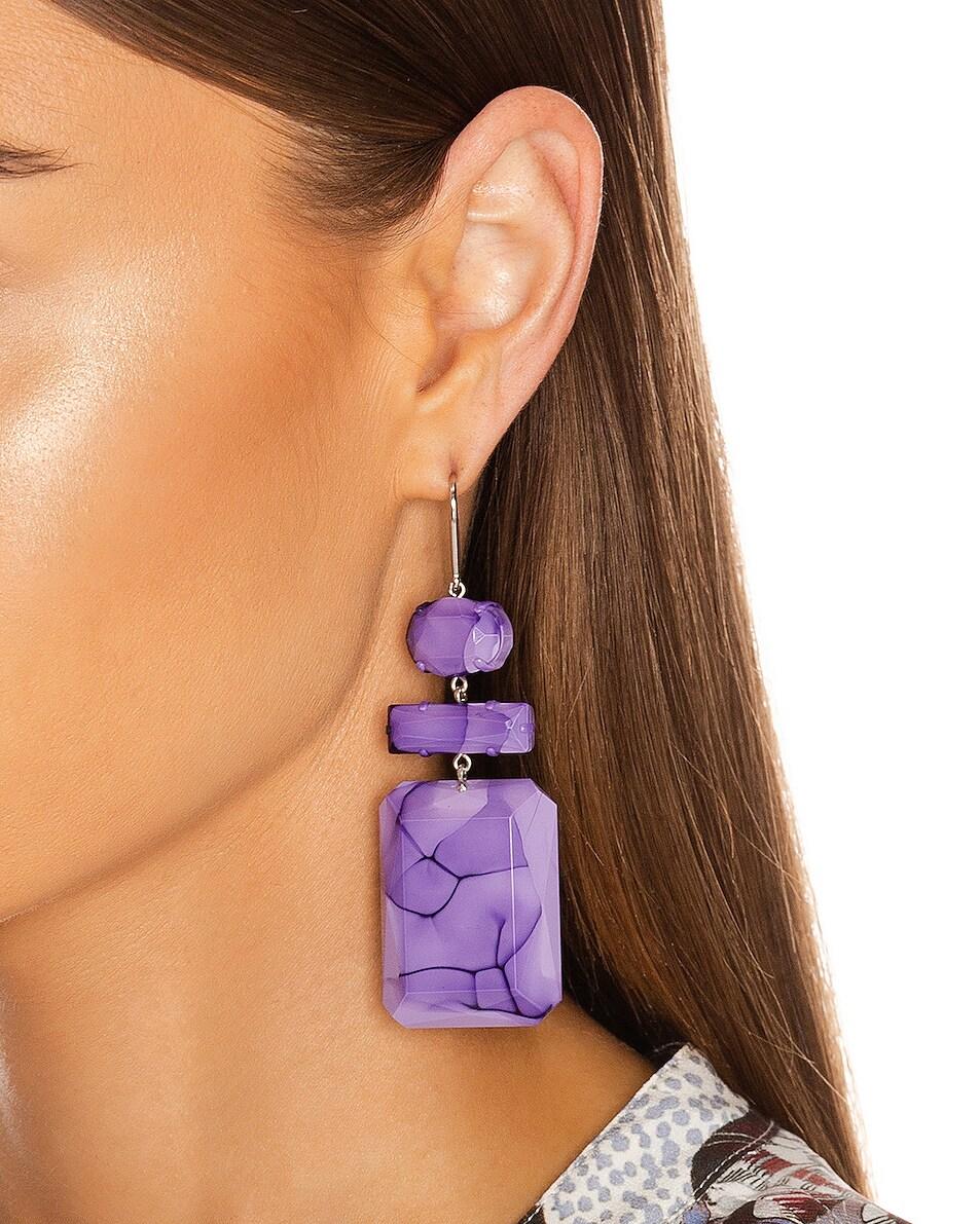 Image 2 of Isabel Marant Boy Drop Earrings in Lilac