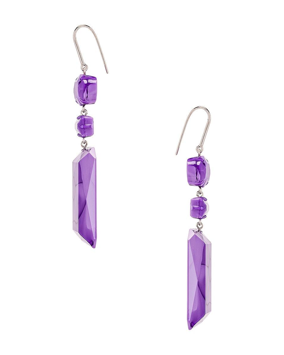 Image 3 of Isabel Marant Boy Drop Earrings in Lilac