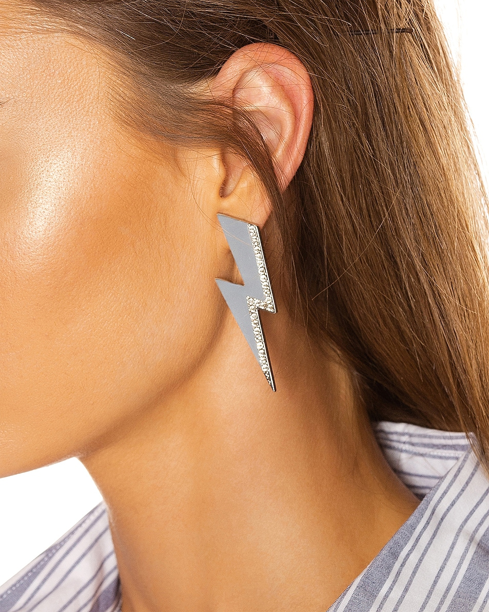 Image 2 of Isabel Marant Flash Earrings in Transparent