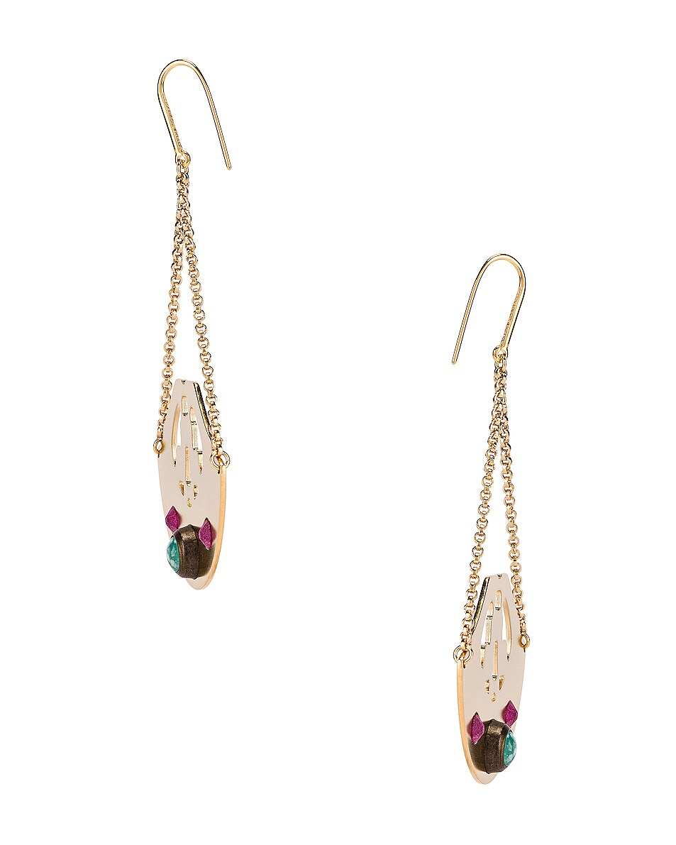 Image 2 of Isabel Marant Stone Chandelier Earrings in Fuchsia